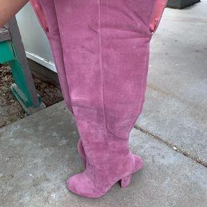 Mauve Thigh High Boots